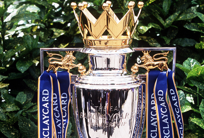 8 Aug 2001 :  The new FA Barclaycard Premiership Trophy at the Royal Lancaster Hotel, London. Mandatory Credit: Andrew Redington/ALLSPORT
