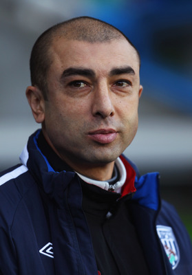 READING, ENGLAND - JANUARY 08:  Roberto Di Matteo manager of West Bromwich Albion looks on prior to the FA Cup sponsored by E.ON 3rd round match between Reading and West Bromwich Albion at Madejski Stadium on January 8, 2011 in Reading, England.  (Photo b