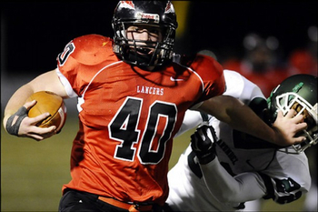 Fullback Zach Zwinak could be a nice complement behind Redd. Photo: The Washington Post.
