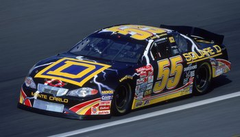19 May 2001:  Bobby Hamilton #55 who drives a Chevy Monte Carlo for Andy petree racing races by during The Winston, part of the Nascar Winston Cup Series at Lowe's Motor Speedway in Concord, North Carolina.Mandatory Credit: Jon Ferrey  /Allsport