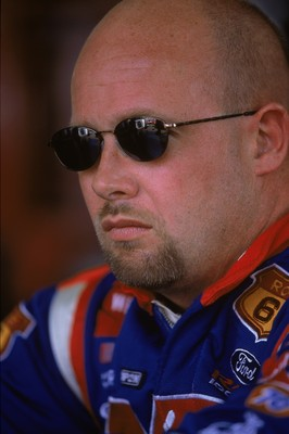 28 Jul 2001:  A close up of driver Todd Bodine #66 who drives the Ford Taurus for Haas/Carter Racing during the Pennsylvania 500, part of the NASCAR Winston Cup Series at the Pocono Raceway in Long Pond, Pennsylvania.Mandatory Credit: Jamie Squire  /Allsp