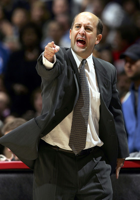LOS ANGELES - DECEMBER 17:  Head coach Jeff Van Gundy of the Houston Rockets argues a call during the second half of the game against the Los Angeles Clippers on December 17, 2005 at the Staples Center in Los Angeles, California. The Clippers defeated the