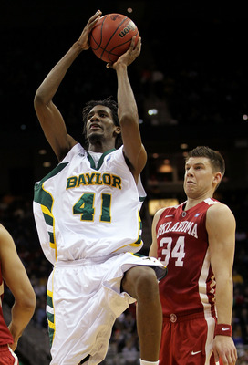 KANSAS CITY, MO - MARCH 09:  Anthony Jones #41 of the Baylor Bears shoots the ball against the Oklahoma Sooners during their game in the first round of the 2011 Phillips 66 Big 12 Men's Basketball Tournament at Sprint Center on March 9, 2011 in Kansas Cit