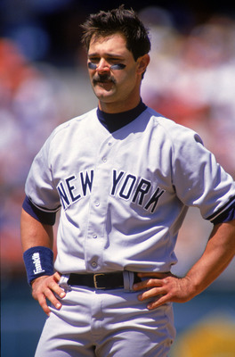 OAKLAND, CA - APRIL 30:  Don Mattingly #23 of the New York Yankees looks on as he stand on the field during a game against the Oakland Athletics at Oakland-Alameda County Coliseum on April 30, 1994 in Oakland, California.  (Photo by Otto Greule Jr/Getty I