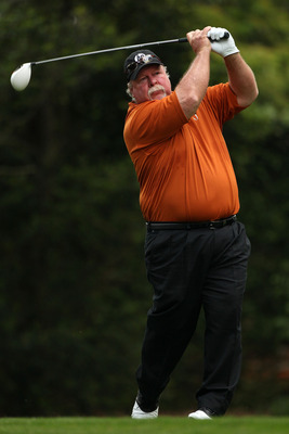 AUGUSTA, GA - APRIL 08:  Craig Stadler hits his tee shot on the second hole during the second round of the 2011 Masters Tournament at Augusta National Golf Club on April 8, 2011 in Augusta, Georgia.  (Photo by Andrew Redington/Getty Images)