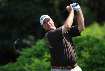 HILTON HEAD ISLAND, SC - APRIL 21:  Boo Weekley hits a tee shot during the first round of The Heritage at Harbour Town Golf Links on April 21, 2011 in Hilton Head Island, South Carolina.  (Photo by Streeter Lecka/Getty Images)
