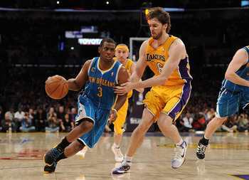 Chris Paul and Pau Gasol