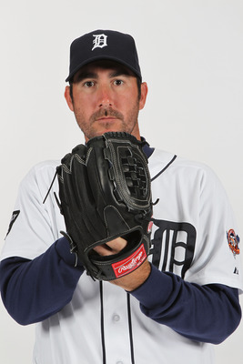 LAKELAND, FL - FEBRUARY 21:  Justin Verlander #35 of the Detroit Tigers poses for a portrait during Photo Day on February 21, 2011 at Joker Marchant Stadium in Lakeland, Florida.  (Photo by Nick Laham/Getty Images)