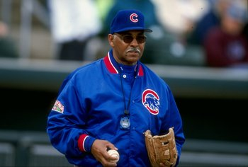21 Feb 1998:  Billy Williams of the Chicago Cubs at Spring Training at the Hohokam Park in Mesa, Arizona.
