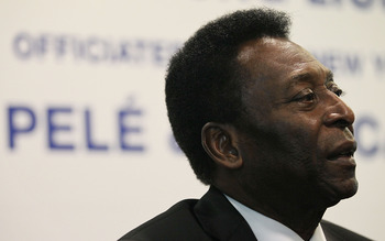 SINGAPORE - MARCH 03:  Football legend Pele speaks to the media at a press conference on March 3, 2011 at Jalan Besar Stadium, in Singapore. The press conference announced a partnership with Courts and launched the start of the New York Cosmos Asia Tour 2