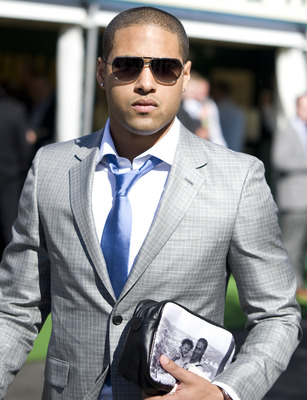 LIVERPOOL, ENGLAND - APRIL 08: England and Liverpool footballer Glen Johnson is seen on Ladies Day at Aintree racecourse on April 08, 2011 in Liverpool, England . (Photo by Alan Crowhurst/ Getty Images)