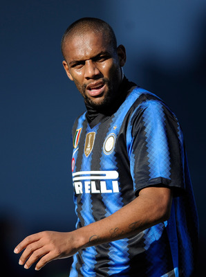 UDINE, ITALY - JANUARY 23:  Maicon of FC Internazionale Milano during the Serie A match between Udinese and Inter at Stadio Friuli on January 23, 2011 in Udine, Italy.  (Photo by Claudio Villa/Getty Images)