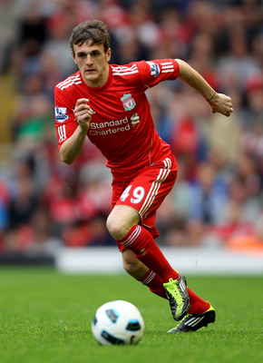 LIVERPOOL, ENGLAND - APRIL 23:  Jack Robinson of Liverpool in action during the Barclays Premier League match between Liverpool and Birmingham City at Anfield on April 23, 2011 in Liverpool, England.  (Photo by Clive Brunskill/Getty Images)