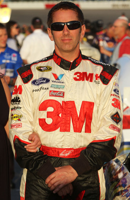 DARLINGTON, SC - MAY 07:  Greg Biffle, driver of the #16 3M Ford, stands on the grid prior to the start of the NASCAR Sprint Cup Series SHOWTIME Southern 500 at Darlington Raceway on May 7, 2011 in Darlington, South Carolina.  (Photo by Jerry Markland/Get