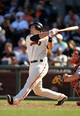 SAN FRANCISCO, CA - APRIL 24:  Buster Posey #28 of the San Francisco Giants in action against the Atlanta Braves at AT&T Park on April 24, 2011 in San Francisco, California.  (Photo by Ezra Shaw/Getty Images)
