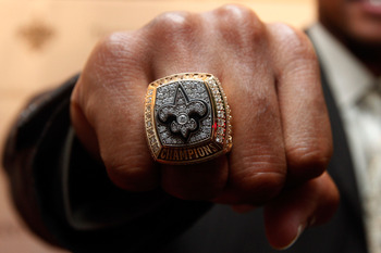 The Super Bowl ring of the Saints