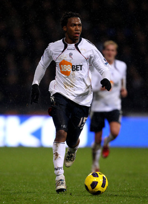 BOLTON, ENGLAND - FEBRUARY 13:  Daniel Sturridge of Bolton Wanderers in action during the Barclays Premier League match between Bolton Wanderers and Everton at the Reebok Stadium on February 13, 2011 in Bolton, England.  (Photo by Alex Livesey/Getty Image