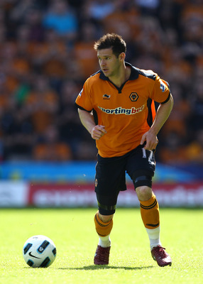 WOLVERHAMPTON, ENGLAND - APRIL 09:  Matt Jarvis of Wolves in action during the Barclays Premier League match between Wolverhampton Wanderers and Everton at Molineux on April 9, 2011 in Wolverhampton, England.  (Photo by Richard Heathcote/Getty Images)