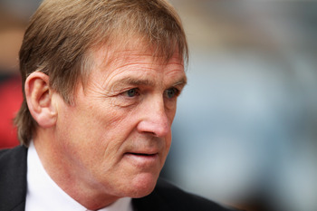 BIRMINGHAM, ENGLAND - MAY 22:  Liverpool Manager Kenny Dalglish looks on at the start of the Barclays Premier League match between Aston Villa and Liverpool at Villa Park on May 22, 2011 in Birmingham, England.  (Photo by Bryn Lennon/Getty Images)