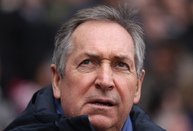 BOLTON, ENGLAND - MARCH 05:  Gerard Houllier the manager of Aston Villa looks on during the Barclays Premier League match between Bolton Wanderers and Aston Villa at the Reebok Stadium on March 5, 2011 in Bolton, England.  (Photo by Alex Livesey/Getty Ima
