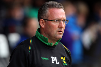 PORTSMOUTH, ENGLAND - MAY 02:  Paul Lambert of Norwich City looks on during the npower Championship match between Portsmouth and Norwich City at Fratton Park on May 2, 2011 in Portsmouth, England.  (Photo by Clive Rose/Getty Images)