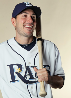 FT. MYERS, FL - FEBRUARY 22:  Matt Joyce #20 of the Tampa Bay Rays poses for a portrait during the Tampa Bay Rays Photo Day on February 22, 2011 at the Charlotte Sports Complex in Port Charlotte, Florida.  (Photo by Elsa/Getty Images)