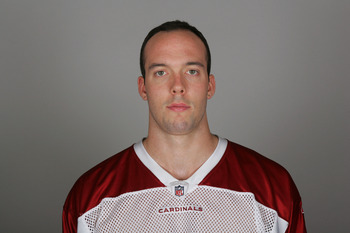 TEMPE, AZ - CIRCA 2010: In this handout image provided by the NFL,  Jim Dray of the Arizona Cardinals poses for his NFL headshot circa 2010 in Tempe, Arizona. (Photo by NFL via Getty Images)