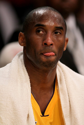 LOS ANGELES, CA - MAY 04:  Kobe Bryant #24 of the Los Angeles Lakers reacts in the second quarter from the bench while taking on the Dallas Mavericks in Game Two of the Western Conference Semifinals in the 2011 NBA Playoffs at Staples Center on May 4, 201