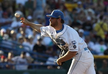 OMAHA, NE - JUNE 28:  Starting pitcher Gerrit Cole #12 of the UCLA Bruins pitches against the South Carolina Gamecocks during game 1 of the men's 2010 NCAA College Baseball World Series at Rosenblatt Stadium on June 28, 2010 in Omaha, Nebraska. The Gameco
