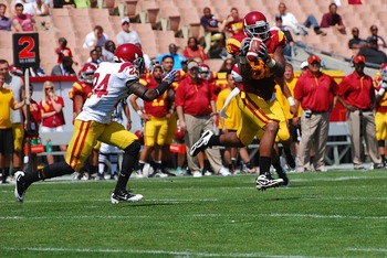 Redshirt freshman TE Xavier Grimble is one five very good USC tight ends