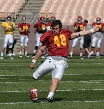 Andrei Heidari has a very strong leg and routinely hit from 50 yards in spring practice