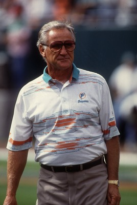 Miami Dolphins head coach Don Shula. Mandatory Credit: Scott Halleran/ALLSPORT