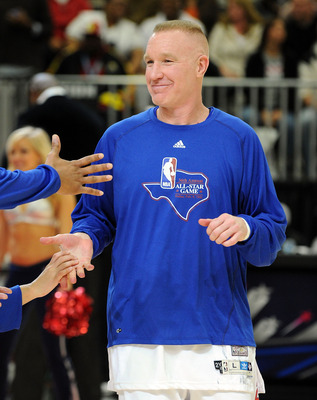 DALLAS - FEBRUARY 12:  NBA player Chris Mullin during the NBA All-Star celebrity game presented by Final Fantasy XIII held at the Dallas Convention Center on February 12, 2010 in Dallas, Texas.  (Photo by Jason Merritt/Getty Images)