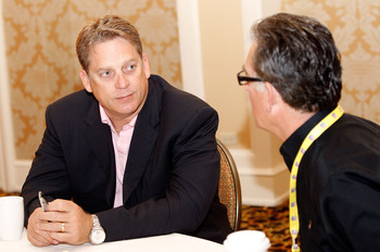 NEW ORLEANS, LA - MARCH 22:  Jacksonville Jaquars head coach Jack Del Rio answers questions from the media during the NFL Annual Meetings at the Roosevelt Hotel on March 22, 2011 in New Orleans, Louisiana. Despite a NFL owners imposed lockout in effect si