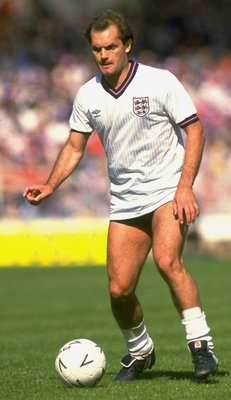 2 Jun 1984:  Ray Wilkins of England in action during the International Friendly match against the USSR at Wembley Stadium in London. The USSR won the match 2-0. \ Mandatory Credit: David Cannon /Allsport