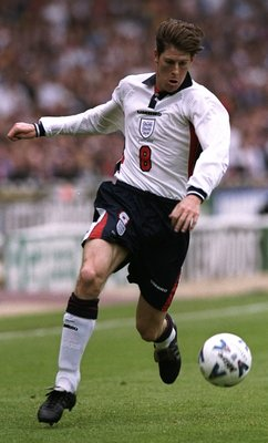 23 May 1998:  Darren Anderton of England in action during the International Friendly against Saudi Arabia at Wembley in London. The match ended 0-0. \ Mandatory Credit: Shaun Botterill /Allsport