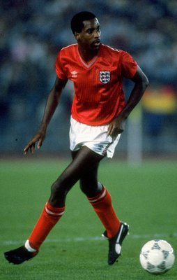 1 Jan 1985:  Viv Anderson of England in action during the international match against West Germany played in Germany.  West Germany won the match 3-1. \ Mandatory Credit: David  Cannon/Allsport