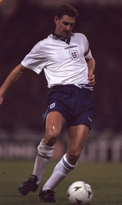 12 Dec 1995:  Tony Adams of England on the ball during the friendly international against Portugal at Wembley stadium the game ended in a 1-1 draw