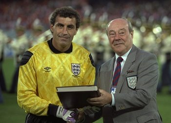 England's most capped player, Peter Shilton