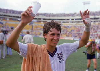 Gary Lineker was England's top goalscorer during the 1986 World Cup