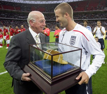 Sir Bobby Charlton is now after a long career the elder statesman of English football