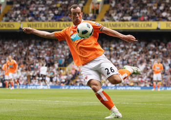 LONDON, UNITED KINGDOM - MAY 07:  Charlie Adam of Blackpool on the ball during the Barclays Premier League match between Tottenham Hotspur and Blackpool at White Hart Lane on May 7, 2011 in London, England.  (Photo by Scott Heavey/Getty Images)