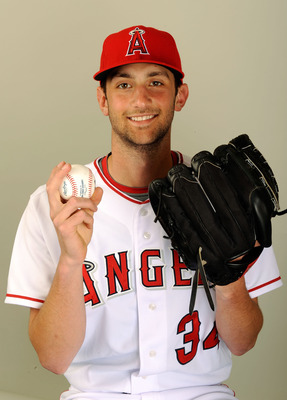 TEMPE, AZ - FEBRUARY 25:  Pitcher Nick Adenhart #34 of the Los Angeles Angels of Anaheim poses for a photo on picture day February 25, 2009 in Tempe, Arizona.  (Photo by Kevork Djansezian/Getty Images)