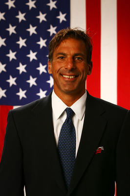 WOODRIDGE, IL - AUGUST 19:  Assistant Coach Chris Chelios poses for a portrait during the USA Olympic Men's Ice Hockey Orientation Camp on August 19, 2009 at Seven Bridges Ice Arena in Woodridge, Illinois.  (Photo by Jamie Squire/Getty Images)