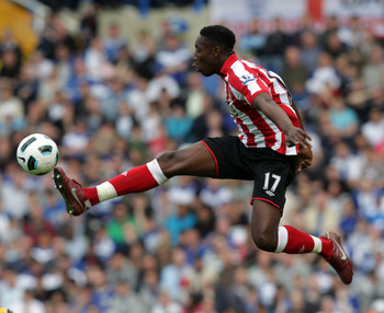 BIRMINGHAM, ENGLAND - APRIL 16:  Danny Welbeck of Sunderland during the Barclays Premier League match between Birmingham City and Sunderland at St Andrew's on April 16, 2011 in Birmingham, England.  (Photo by Ross Kinnaird/Getty Images)
