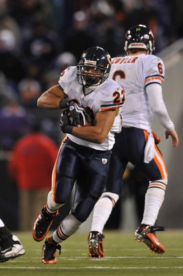 BALTIMORE - DECEMBER 20:  Matt Forte #22 of the Chicago Bears runs the ball during the game against the Baltimore Ravens at M&amp;T Bank Stadium on December 20, 2009 in Baltimore, Maryland. The Ravens defeated the Bears 31-7. (Photo by Larry French/Getty Imag