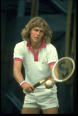 JUN 1974:  BJORN BORG OF SWEDEN PREPARES TO MAKE A SERVE DURING A MATCH AT THE 1974 WIMBLEDON TENNIS CHAMPIONSHIPS.