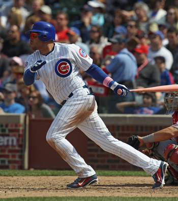 CHICAGO, IL - MAY 08: Aramis Ramirez #16 of the Chicago Cubs takes a swing against the Cincinnati Reds at Wrigley Field on May 8, 2011 in Chicago, Illinois. The Reds defeated the Cubs 2-0. (Photo by Jonathan Daniel/Getty Images)