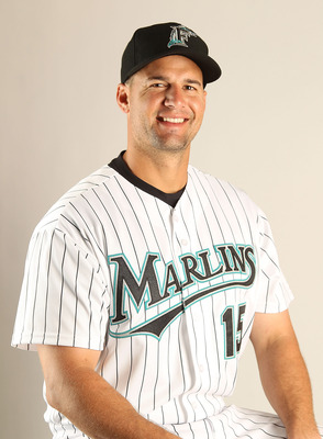 JUPITER, FL - FEBRUARY 23: Gaby Sanchez #15 of the Florida Marlins during Photo Day at Roger Dean Stadium on February 23, 2011 in Jupiter, Florida.  (Photo by Mike Ehrmann/Getty Images)