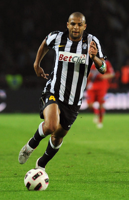 TURIN, ITALY - APRIL 23:  Felipe Melo of Juventus FC in action during the Serie A match between Juventus FC and Catania Calcio at Olimpico Stadium on April 23, 2011 in Turin, Italy.  (Photo by Valerio Pennicino/Getty Images)